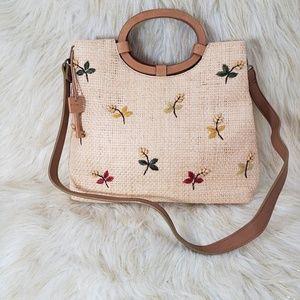 Fossil Straw Handbag